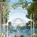 Arched Wedding Aisle with Floral Decor