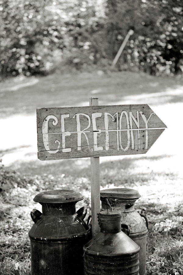 Wedding Planning, Ceremony Sign