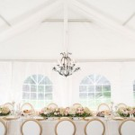 Tent Wedding with Chandelier