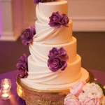 Elegant Wedding Cake with Peony Bouqet