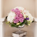 Floral Compote Arrangement with Books