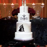 Phantom or Halloween Theme Wedding Cake
