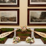 Rustic Wedding Thank You and Bouquet Display