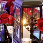 Lantern and Red Roses