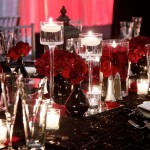 Red and Black Tablescape