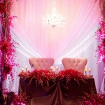 Pink Orchid Sweeetheart Table