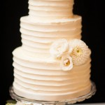 Pumpkin Wedding Cake with Fresh Flowers
