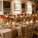 Gold and Red Wedding Reception