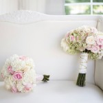 Rose and Hydrangea Wedding and Bridesmaid Bouquet