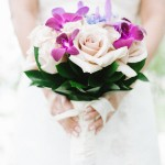 Rose and Orchid Wedding Bouquet