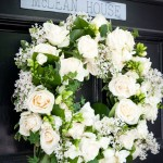 Cream Rose Wedding Day Door Wreath