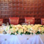Head Table With Bling Drapery Detail