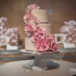 Beautiful Wedding Cake Pink Flowers
