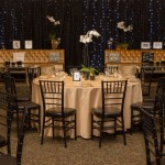 Black and Gold Wedding Reception Decor