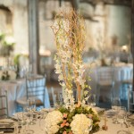 Willow and Hydrangea Centerpiece
