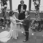 Ceremony Featuring Vintage Stringlights